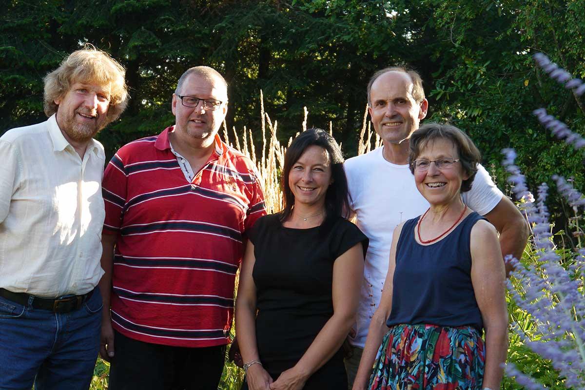 """Die Organisatoren der Initiative """"Offene Gärten Hohenlohe"""""""